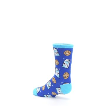 Image of Blue Milk and Cookies Kid's Dress Socks (side-2-back-14)