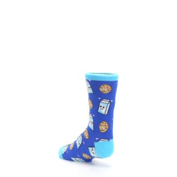 Image of Blue Milk and Cookies Kid's Dress Socks (side-2-back-15)