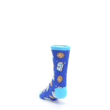 Image of Blue Milk and Cookies Kid's Dress Socks (side-2-back-16)