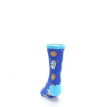Image of Blue Milk and Cookies Kid's Dress Socks (back-17)