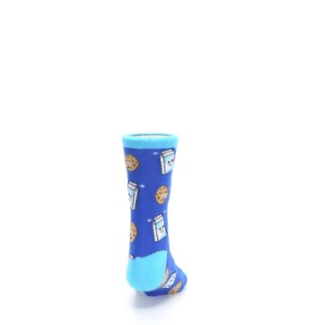 Image of Blue Milk and Cookies Kid's Dress Socks (back-19)