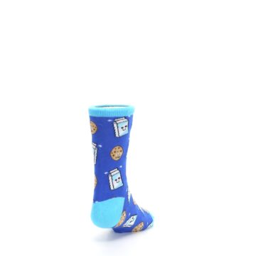Image of Blue Milk and Cookies Kid's Dress Socks (side-1-back-20)
