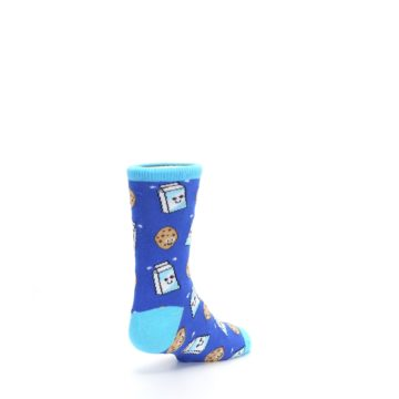 Image of Blue Milk and Cookies Kid's Dress Socks (side-1-back-21)