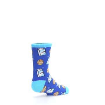 Image of Blue Milk and Cookies Kid's Dress Socks (side-1-back-22)