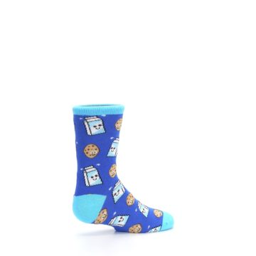 Image of Blue Milk and Cookies Kid's Dress Socks (side-1-23)