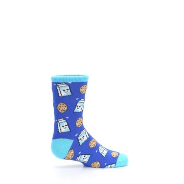 Image of Blue Milk and Cookies Kid's Dress Socks (side-1-24)