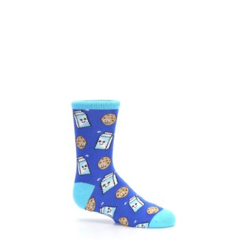 Image of Blue Milk and Cookies Kid's Dress Socks (side-1-25)