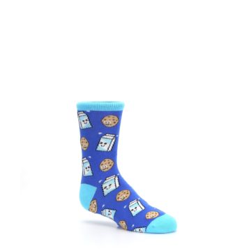 Image of Blue Milk and Cookies Kid's Dress Socks (side-1-26)