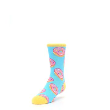 Image of Blue Pink Donuts Kid's Dress Socks (side-2-front-07)