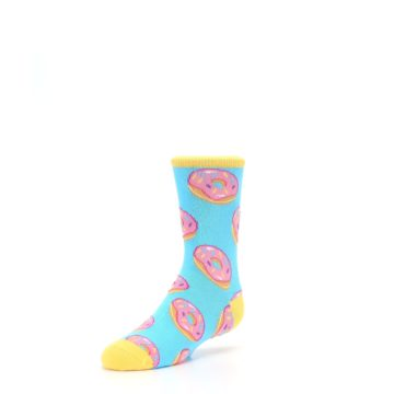 Image of Blue Pink Donuts Kid's Dress Socks (side-2-front-08)