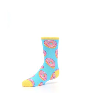 Image of Blue Pink Donuts Kid's Dress Socks (side-2-09)