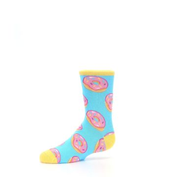 Image of Blue Pink Donuts Kid's Dress Socks (side-2-10)
