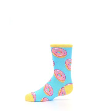 Image of Blue Pink Donuts Kid's Dress Socks (side-2-11)
