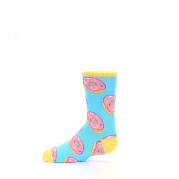 Image of Blue Pink Donuts Kid's Dress Socks (side-2-12)