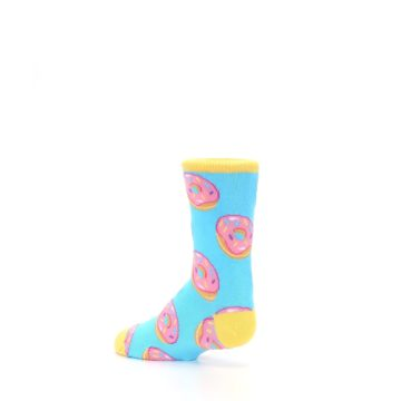 Image of Blue Pink Donuts Kid's Dress Socks (side-2-back-14)