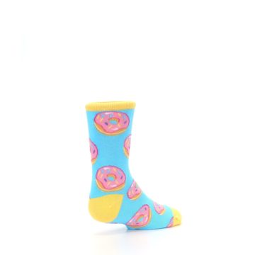 Image of Blue Pink Donuts Kid's Dress Socks (side-1-back-22)