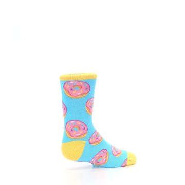 Image of Blue Pink Donuts Kid's Dress Socks (side-1-23)