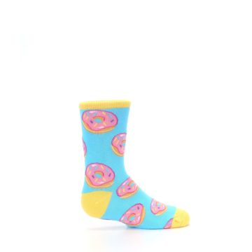 Image of Blue Pink Donuts Kid's Dress Socks (side-1-24)