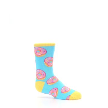 Image of Blue Pink Donuts Kid's Dress Socks (side-1-25)