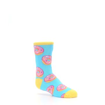 Image of Blue Pink Donuts Kid's Dress Socks (side-1-26)