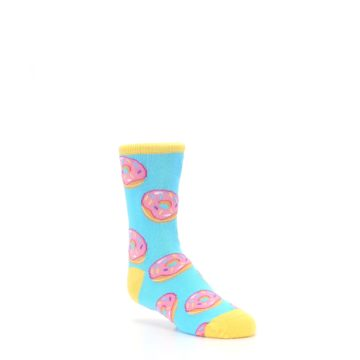 Image of Blue Pink Donuts Kid's Dress Socks (side-1-27)