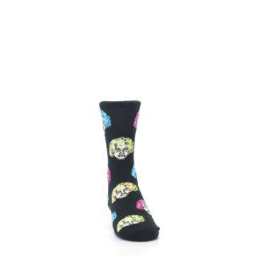Image of Black Einstein Genius Kid's Dress Socks (side-1-front-03)