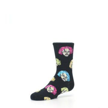 Image of Black Einstein Genius Kid's Dress Socks (side-2-09)