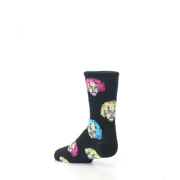 Image of Black Einstein Genius Kid's Dress Socks (side-2-back-14)
