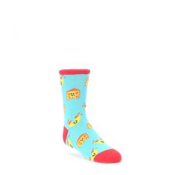 Blue Yellow Mac and Cheese Kids Dress Socks Socksmith
