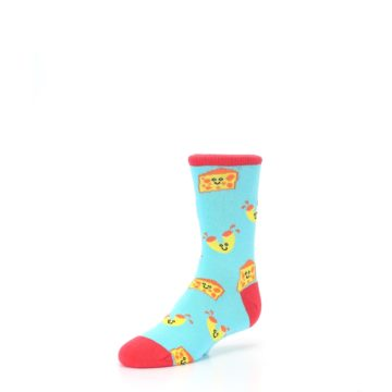 Image of Blue Yellow Mac and Cheese Kid's Dress Socks (side-2-front-08)