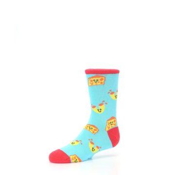 Image of Blue Yellow Mac and Cheese Kid's Dress Socks (side-2-09)