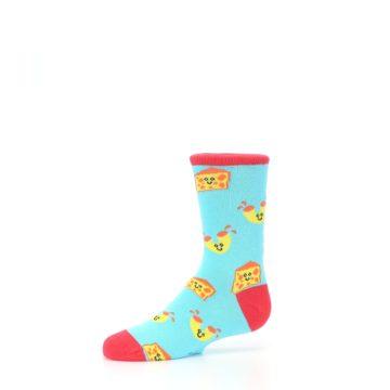 Image of Blue Yellow Mac and Cheese Kid's Dress Socks (side-2-10)