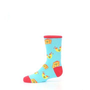 Image of Blue Yellow Mac and Cheese Kid's Dress Socks (side-2-11)