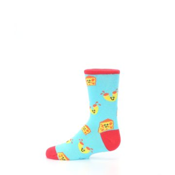 Image of Blue Yellow Mac and Cheese Kid's Dress Socks (side-2-12)