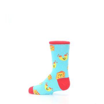 Image of Blue Yellow Mac and Cheese Kid's Dress Socks (side-2-13)