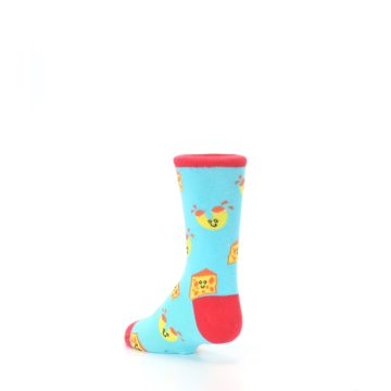 Image of Blue Yellow Mac and Cheese Kid's Dress Socks (side-2-back-15)
