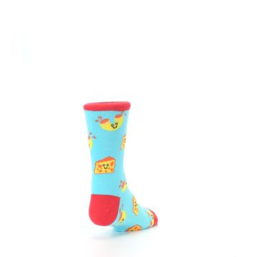 Image of Blue Yellow Mac and Cheese Kid's Dress Socks (side-1-back-20)