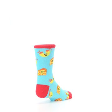 Image of Blue Yellow Mac and Cheese Kid's Dress Socks (side-1-back-21)