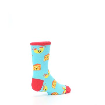 Image of Blue Yellow Mac and Cheese Kid's Dress Socks (side-1-back-22)