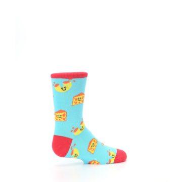 Image of Blue Yellow Mac and Cheese Kid's Dress Socks (side-1-23)