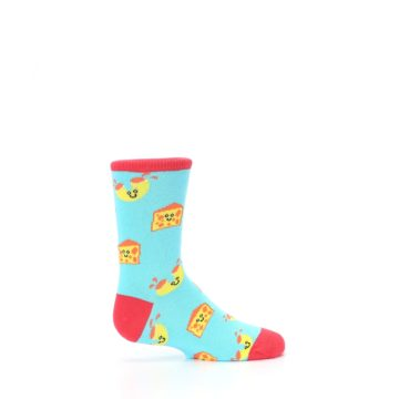 Image of Blue Yellow Mac and Cheese Kid's Dress Socks (side-1-24)