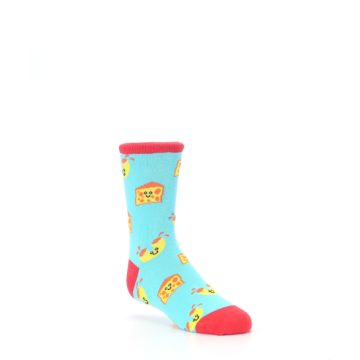 Image of Blue Yellow Mac and Cheese Kid's Dress Socks (side-1-27)