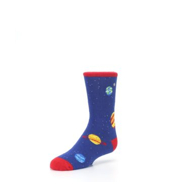 Image of Solar System Outer Space Planets Kid's Dress Socks (side-2-front-08)