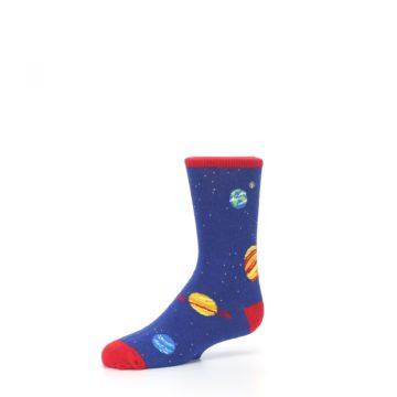 Image of Solar System Outer Space Planets Kid's Dress Socks (side-2-09)