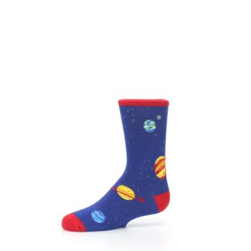 Image of Solar System Outer Space Planets Kid's Dress Socks (side-2-10)
