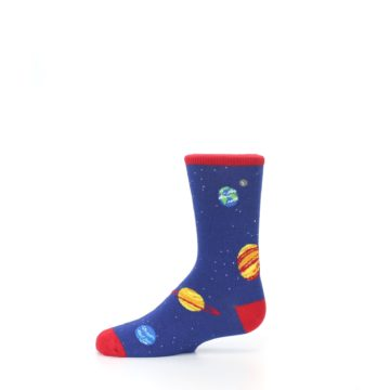Image of Solar System Outer Space Planets Kid's Dress Socks (side-2-11)