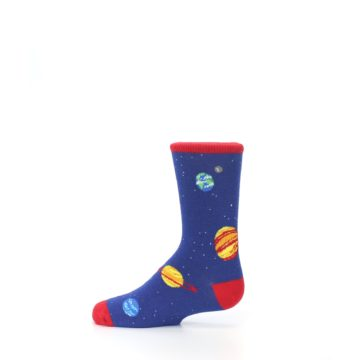 Image of Solar System Outer Space Planets Kid's Dress Socks (side-2-12)