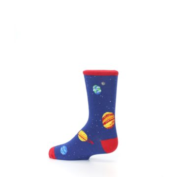 Image of Solar System Outer Space Planets Kid's Dress Socks (side-2-13)