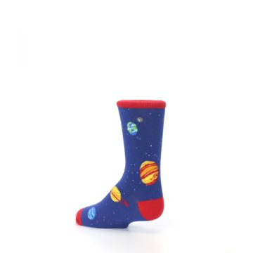 Image of Solar System Outer Space Planets Kid's Dress Socks (side-2-back-14)