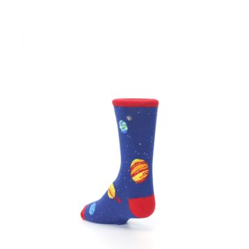 Image of Solar System Outer Space Planets Kid's Dress Socks (side-2-back-15)